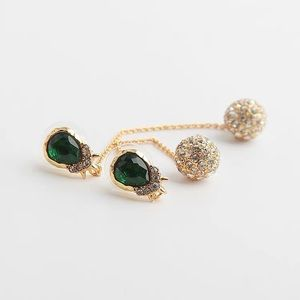 Alexis Bittar Green Pave Drop Earrings
